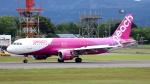 誘喜さんが、鹿児島空港で撮影したピーチ A320-214の航空フォト(写真)