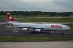 みっちゃんさんが、デュッセルドルフ国際空港で撮影したスイスインターナショナルエアラインズ A340-313Xの航空フォト(写真)