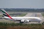 sky-spotterさんが、スワンナプーム国際空港で撮影したエミレーツ航空 A380-861の航空フォト(写真)