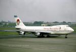 なごやんさんが、名古屋飛行場で撮影したアメリカウエスト航空 747-206Bの航空フォト(写真)