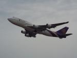 PW4090さんが、関西国際空港で撮影したタイ国際航空 747-4D7の航空フォト(写真)