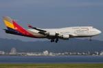 つみネコ♯2さんが、関西国際空港で撮影したアシアナ航空 747-48EMの航空フォト(写真)