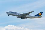きゅうさんが、関西国際空港で撮影したルフトハンザドイツ航空 747-430の航空フォト(写真)