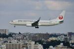 ポン太さんが、那覇空港で撮影した日本トランスオーシャン航空 737-8Q3の航空フォト(写真)