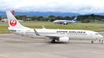 誘喜さんが、鹿児島空港で撮影した日本航空 737-846の航空フォト(写真)