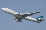 木人さんが、成田国際空港で撮影したキャセイパシフィック航空 747-867F/SCDの航空フォト(写真)