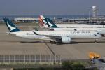 キイロイトリ1005fさんが、関西国際空港で撮影したキャセイパシフィック航空 A350-941XWBの航空フォト(写真)