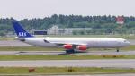 シロクニさんが、成田国際空港で撮影したスカンジナビア航空 A340-313Xの航空フォト(写真)