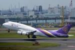 さくらの城南山。さんが、羽田空港で撮影したタイ国際航空 747-4D7の航空フォト(写真)