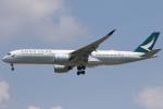 安芸あすかさんが、スワンナプーム国際空港で撮影したキャセイパシフィック航空 A350-941XWBの航空フォト(写真)