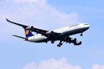 まいけるさんが、スワンナプーム国際空港で撮影したルフトハンザドイツ航空 A340-313Xの航空フォト(写真)