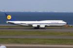 青春の1ページさんが、羽田空港で撮影したルフトハンザドイツ航空 747-830の航空フォト(写真)