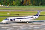 菊池 正人さんが、チューリッヒ空港で撮影したLOTポーランド航空 ERJ-145MPの航空フォト(写真)