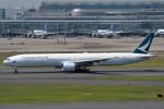 さくらの城南山。さんが、羽田空港で撮影したキャセイパシフィック航空 777-367の航空フォト(写真)