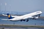 ジャコビさんが、羽田空港で撮影したルフトハンザドイツ航空 A340-642の航空フォト(写真)