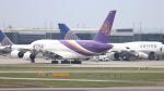 誘喜さんが、ロンドン・ヒースロー空港で撮影したタイ国際航空 A380-841の航空フォト(写真)