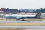 岡崎美合さんが、成田国際空港で撮影したアリタリア航空 777-243/ERの航空フォト(写真)