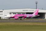 ゆういちさんが、鹿児島空港で撮影したピーチ A320-214の航空フォト(写真)