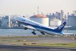 ぽん太さんが、羽田空港で撮影した全日空 777-281/ERの航空フォト(写真)