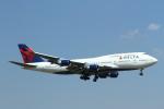 ja007gさんが、成田国際空港で撮影したデルタ航空 747-451の航空フォト(写真)