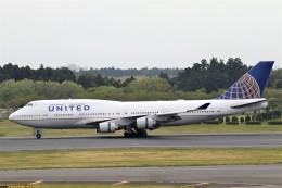 にしやんさんが、成田国際空港で撮影したユナイテッド航空 747-422の航空フォト(写真)
