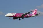 幹ポタさんが、福岡空港で撮影したピーチ A320-214の航空フォト(写真)