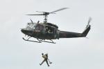 500さんが、酒匂川スポーツ広場で撮影した陸上自衛隊 UH-1Jの航空フォト(写真)