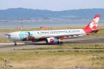 水月さんが、関西国際空港で撮影したエアアジア・エックス A330-343Xの航空フォト(写真)