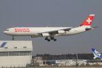 zero1さんが、成田国際空港で撮影したスイスインターナショナルエアラインズ A340-313Xの航空フォト(写真)