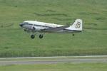 ガペ兄さんが、福島空港で撮影したスーパーコンステレーション飛行協会 DC-3Aの航空フォト(写真)