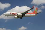 utarou on NRTさんが、成田国際空港で撮影したティーウェイ航空 737-8BKの航空フォト(写真)