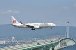 委員会の老人さんが、関西国際空港で撮影した日本航空 737-846の航空フォト(写真)
