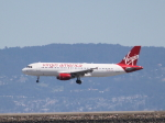 職業旅人さんが、サンフランシスコ国際空港で撮影したヴァージン・アメリカ A320-214の航空フォト(写真)