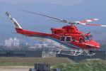まんぼ しりうすさんが、小松空港で撮影した石川県消防防災航空隊 412EPの航空フォト(写真)