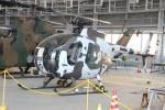 ショウさんが、霞ヶ浦飛行場で撮影した陸上自衛隊 OH-6Dの航空フォト(写真)