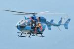 500さんが、酒匂川スポーツ広場で撮影した神奈川県警察 BK117C-2の航空フォト(写真)