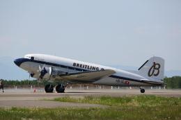 ATOMさんが、帯広空港で撮影したスーパーコンステレーション飛行協会 DC-3Aの航空フォト(写真)
