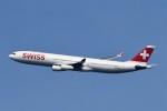 B747‐400さんが、成田国際空港で撮影したスイスインターナショナルエアラインズ A340-313Xの航空フォト(写真)