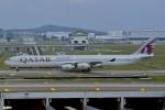 妄想竹さんが、クアラルンプール国際空港で撮影したカタール航空 A340-642の航空フォト(写真)