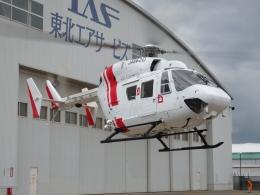 ミルハスさんが、仙台空港で撮影した東北エアサービス BK117B-2の航空フォト(写真)