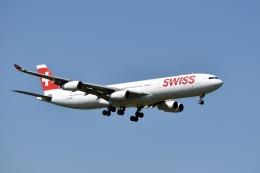 sonnyさんが、成田国際空港で撮影したスイスインターナショナルエアラインズ A340-313Xの航空フォト(写真)