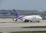 国府宮さんが、関西国際空港で撮影したタイ国際航空 747-4D7の航空フォト(写真)