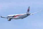 安芸あすかさんが、関西国際空港で撮影したマレーシア航空 A330-323Xの航空フォト(写真)