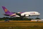on-chanさんが、成田国際空港で撮影したタイ国際航空 A380-841の航空フォト(写真)