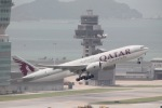 だいすけさんが、香港国際空港で撮影したカタール航空カーゴ 777-FDZの航空フォト(写真)