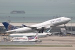 だいすけさんが、香港国際空港で撮影したユナイテッド航空 747-422の航空フォト(写真)