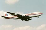 アオアシシギさんが、成田国際空港で撮影したユナイテッド航空 747-122の航空フォト(写真)