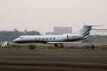 スポット110さんが、羽田空港で撮影したラスベガス サンズ G-V Gulfstream Vの航空フォト(写真)