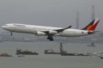 たみぃさんが、香港国際空港で撮影したフィリピン航空 A340-313Xの航空フォト(写真)