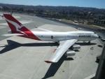 とりてつさんが、サンフランシスコ国際空港で撮影したカンタス航空 747-438の航空フォト(写真)